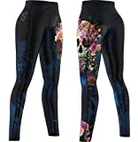 SMMASH Muerte Deportivos Leggins Largos Mujer, Mallas Deporte Mujer, Yoga, Fitness, Crossfit, Correr, Material Transpirable y Antibacteriano, (XS)