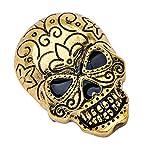 Happyyami 1 Unid Broches de Calavera Metal Joyería de Halloween Encanto Gótico Esmalte Pin Insignia Broche para Mujer Hombre