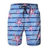 jiilwkie Summer Boardshorts, Shorts de Hombre con Dibujo de Acuarela de Bolsillo M