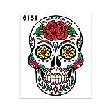 4R Quattroerre.it 6151 Adhesivos Stickers Cráneo Mexicano, 10 x 12 cm