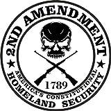 2nd Enmienda Vinilo calcomanía de vinilo adhesivo Américas Constitutional Homeland Security de 7,62 cm redondo de calidad premium resistente a los rayos UV laminado JMM001