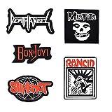 makstore 6 piezas Rock Band Patch Punk Metal Hardrock Patch Patch