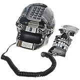 Bluelover Teléfono Único con Forma De Esqueleto En Forma De Calavera Negra