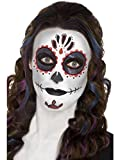 Smiffys-44226 Kit de Maquillaje para el día de los Muertos, con Pinturas para la Cara, Tatuaje, Multicolor, No es Applicable (Smiffy'S 44226)