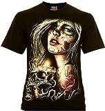 Classic Wear Rock Eagle International Santa Muerte with Skull Hombre Camiseta Talla 2XL