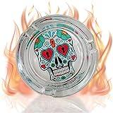 mtb more energy Cenicero ''Sugar Skull Hearts'' - Diámetro 8 cm - Dia de los Muertos - Décoration Cráneo Mexico