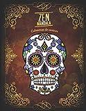 Zen Mandala: Libro para colorear Calaveras de azúcar | 3 niveles de dificultad | 30 Mandalas de calaveras | 8.5 'x 11'