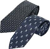 HOWARDS Pack x2 ud. corbatas jacquard, firma, presentadas en caja de regalo individual. (COCKTAIL & CALAVERA)