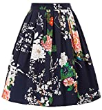 GRACE KARIN Faldas Azul Marino Floral Años 50 Cortas Vintage Pin Up XL 31#