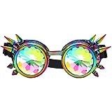 ZAIQUN Remache Steampunk Espejo a prueba de viento Vintage Gótico Lentes Gafas Gafas Gafas