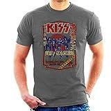 Kiss Destroyer Tour '78 Manga Corta De Los Hombres Camiseta Gris Carbón Medium