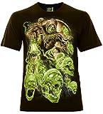 Ghost Skull`s Hombre Camiseta Talla S Brillan en la Oscuridad