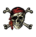 Vinyl Junkie Graphics Calcomanía/calcomanía de calavera pirata y huesos cruzados