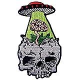 Parche termoadhesivo para la ropa, diseño de Perder la mente Cerebro perdido en UFO