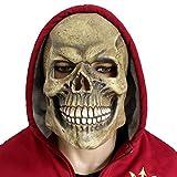 CreepyParty Fiesta de Disfraces de Halloween Máscara de Cabeza de Látex Cráneo