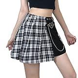 Y2k, Ropa estética, Minifalda Plisada de Retazos para Mujer, Falda de Cintura Alta, Ropa de Calle Punk gótica E para Chica, atuendos de Verano