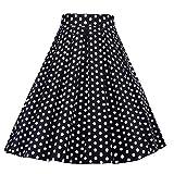 S.CHARMA - Falda para mujer, diseño vintage de Pin Up para cumpleaños, fiesta de 1950's Audrey Hepburn de fiesta, cóctel, Rockabilly, talla grande 17 3XL