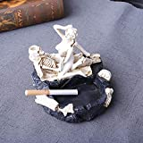 Cenicero de calavera de Halloween Tofree Escultura creativa Estatua Escultura para el hogar Cigarrillo (Tipo B)