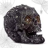 mtb more energy Calavera ''Mystic Pearls'' - Cráneo con Cuentas - Altura 12 cm - Figura Decoración Fantasy fantasía fantástico