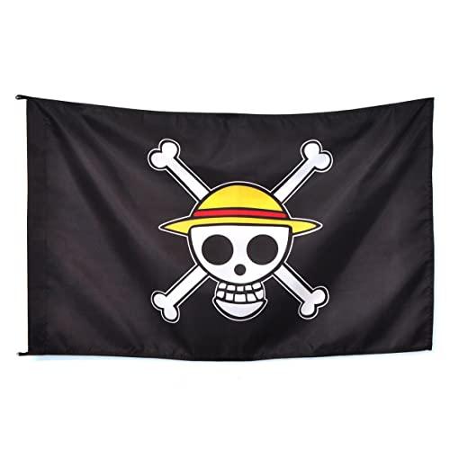 CoolChange Bandera con símbolo de Jolly Rogers del Equipaje Sombreros de Paja de One Piece